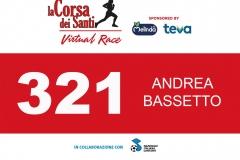 Lettera di Conferma Iscrizione alla 'la Corsa dei Santi - Virtual Race' di BASSETTO ANDREA